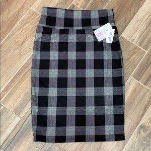 NWT Lularoe Cassie Pencil Skirt B&W